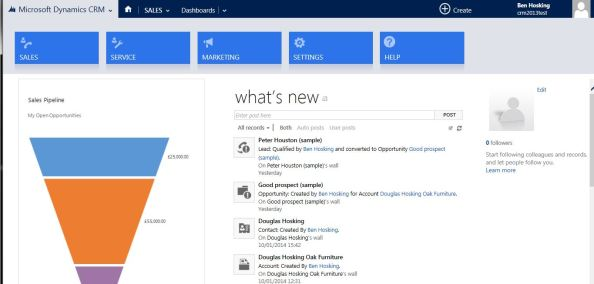 crm 2013 first look