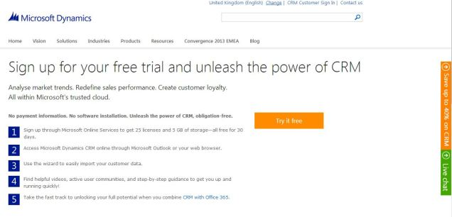 crm 2013 trial