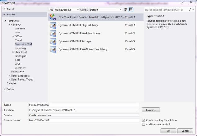 setup CRM dev toolkit 1