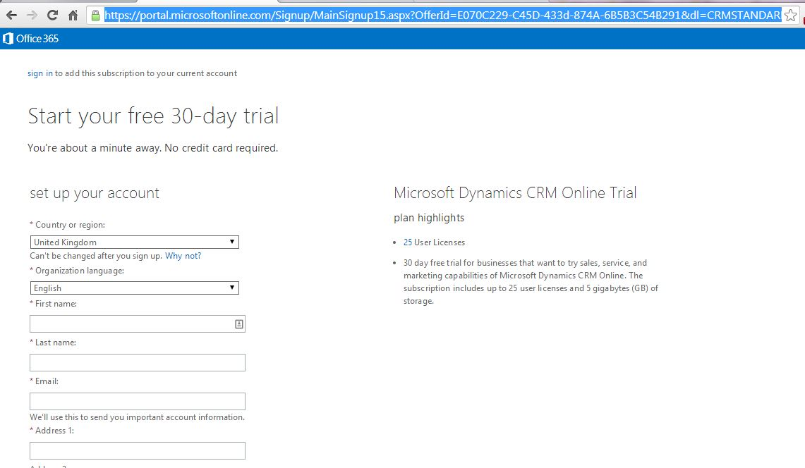 step by step guide to creating a crm 2013 online trial