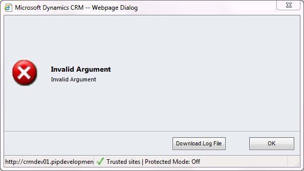 Dialog enddate error 2