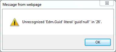 EDM.guid error