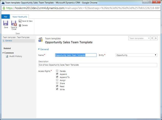 access templates