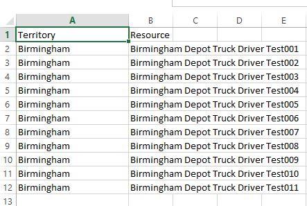 Birmingham Truck driver territory