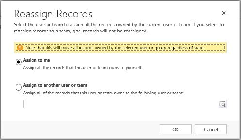 CRM 2016 reassign all records 1