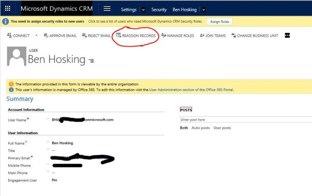 CRM 2016 reassign all records