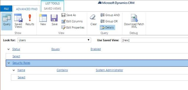 CRM 2016 - user roles 2