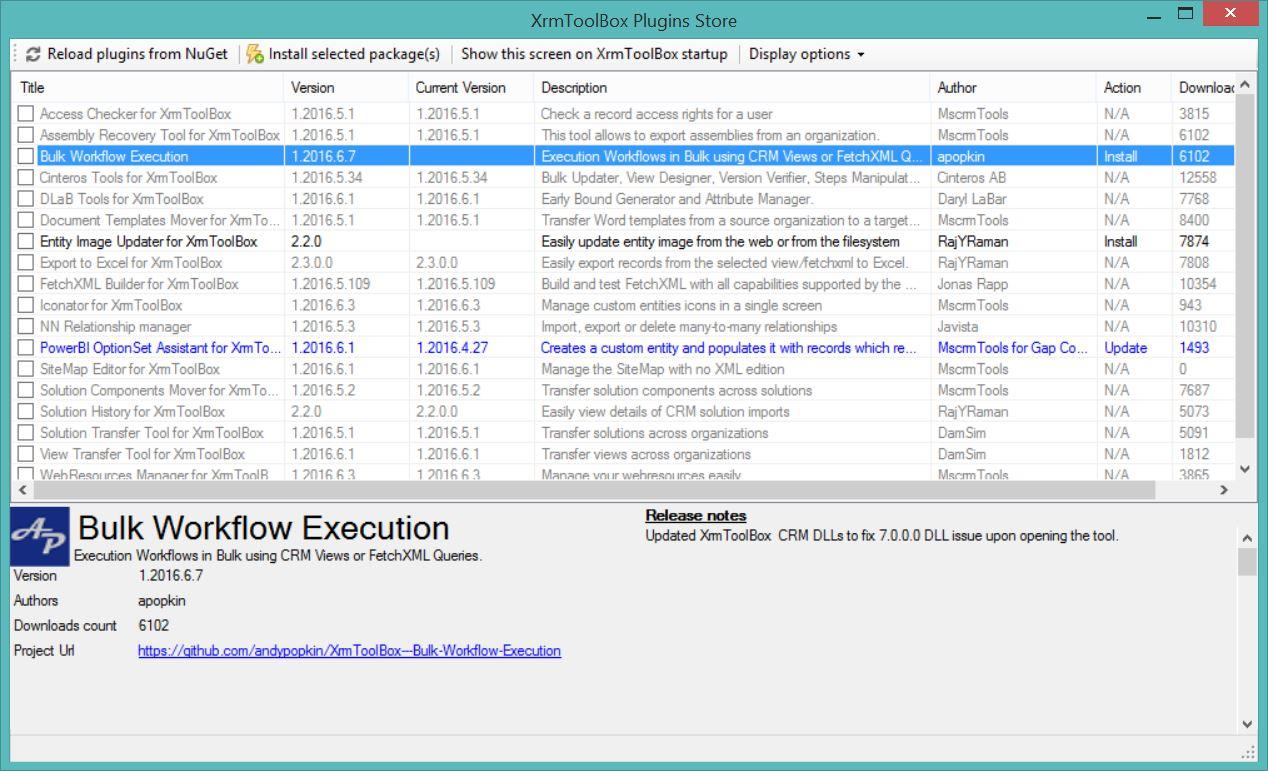 CRM 2016 – XRMToolBox – loadFromRemoteSources error – Hosk's Dynamic